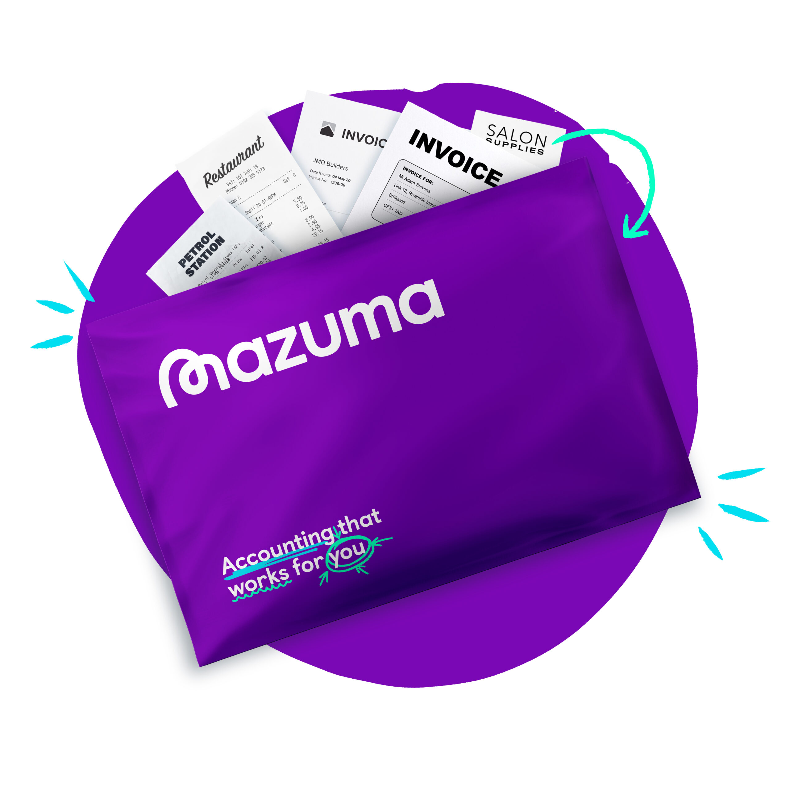 Mazuma send us your documents in a freepost envelope