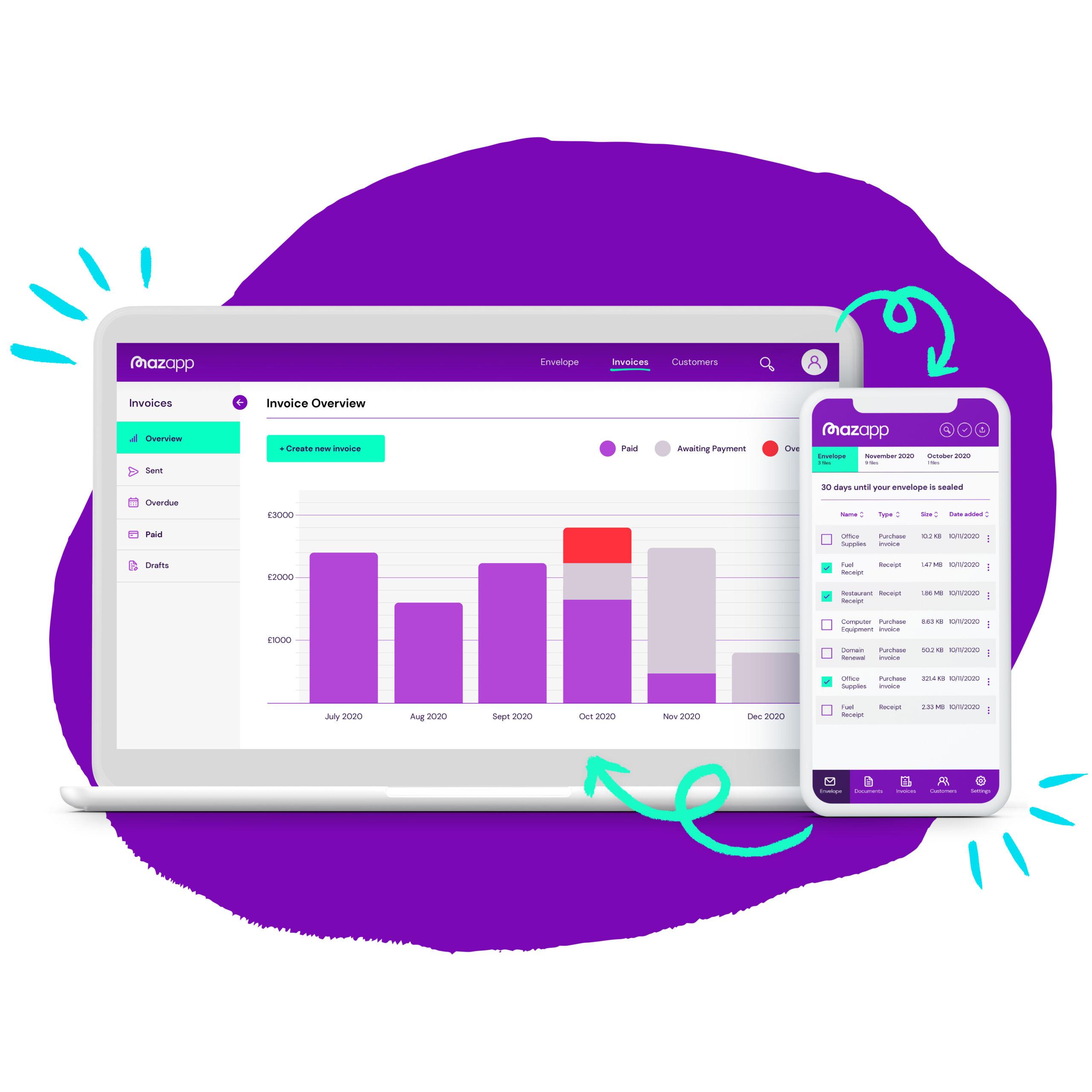 Mazumas free invoicing software
